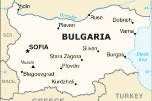 Bulgaria Map, adapted from image at cia.gov