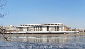 File Photo of Kennedy Center Across Potomac River, adapted from image at nps.gov