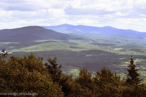 File Photo of Vermont Mountains and Forest, Adapted From Image at usda.gov