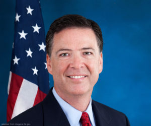 James Comey file photo, adapted from image at fbi.gov
