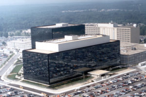File Photo of NSA Headquarters Building, adapted from NSA photo at defense.gov