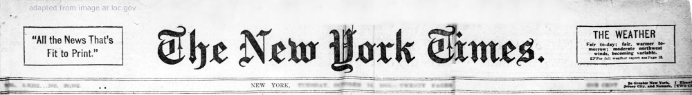 New York Times Masthead from 1913 adapted from image at loc.gov