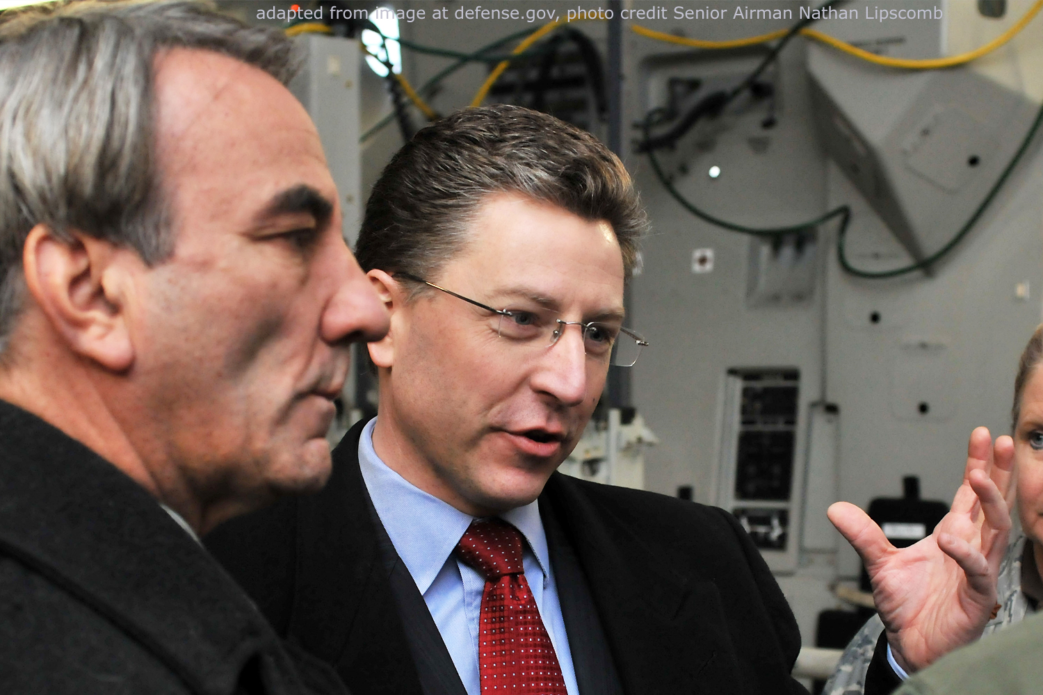 File Photo of Kurt Volker and W. Bruce Weinrod, adapted from image at defense.gov with photo credit to Senior Airman Nathan Lipscomb