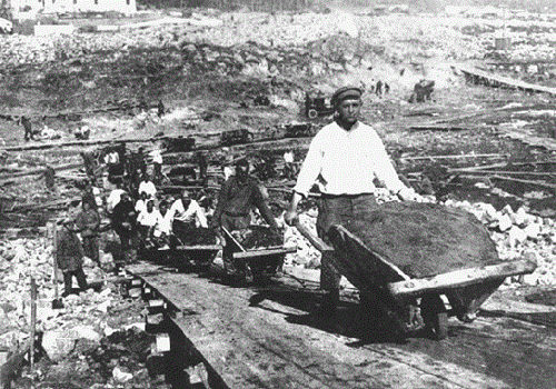 File Photo of Soviet Gulag at Belbaltlag, adapted from image at nps.gov