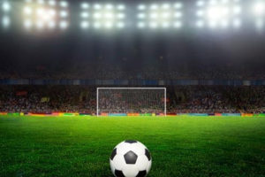 File Image of Soccer Ball, Field, Stadium with Lights, adapted from image at fbi.gov