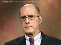 Strobe Talbott file photo, adapted from image at state.gov