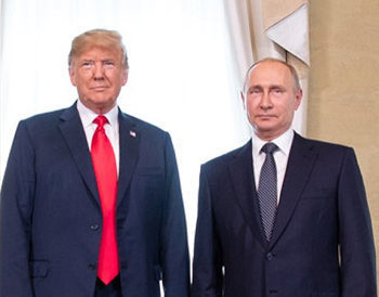 File Photo of Donald Trump and Putin Standing Side-by-Side at Helsinki Summit, adapted from image at whitehouse.gov by Steven C. Welsh, SCW Communications and Analysis, www.stevencwelsh.info www.stevencwelsh.com