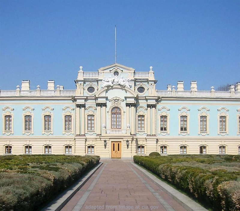 Mariyinsky Palace file photo, adapted from image at cia.gov