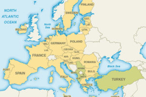 EU Map adapted from cia.gov image