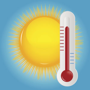 Cartoon Sun and Thermometer, adapted from cdc.gov