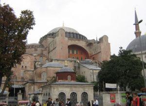 Hagia Sofia file photo, adapted from image at cia.gov