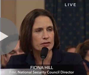 Redacted File Photo of Fiona Hill, adapted form image at seanmaloney.house.gov