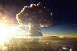 File Photo of Tsar Bomba Nuclear Detonation, adapted from image at osd.mil