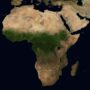 Africa Satellite Photo, adapted from image at nasa.gov
