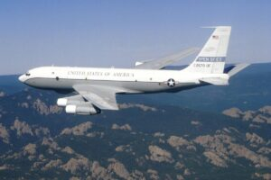 File Photo of OC-135B Plane Painted For Open Skies Treaty Use, adapted from image at arnold.af.mil