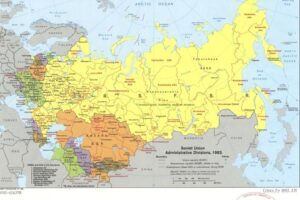 CIA Map of USSR Administrative Divisions, adapted from image at loc.gov