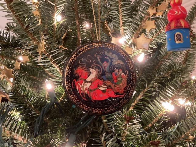 Christmas Ornament on Christmas Tree at JRL Location on Chincoteague Island