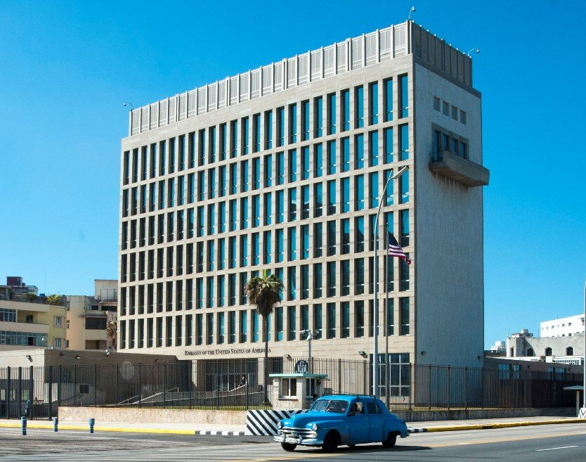 U.S. Embassy in Havana, adapted from image at state.gov