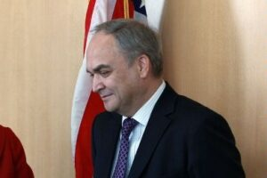 Cropped File Photo of Anatoly Antonov with U.S. Flag, adapted from image at state.gov