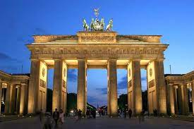 Brandenburg Gate in Berlin, Germany, adapted from image in publication at army.mil