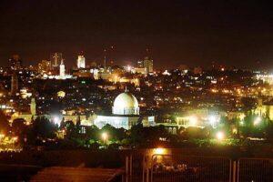 Jerusalem At Night, adapted from image at cia.gov