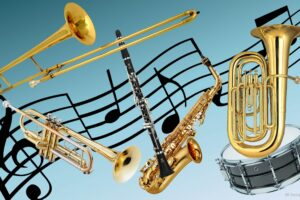 File Image of Musical Instruments and Sheet Music, adapted from image at nih.gov