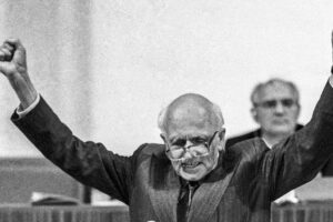 Andrei Sakharov file photo, adapted from image at Russian-speaking Community Council facebook event page