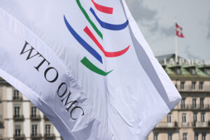 World Trade Organization. [Image of WTO flag from the] WTO Public Forum 2010. External September 16, 2010. Creative Commons. Attribution-ShareAlike 2.0 Generic (CC BY-SA 2.0).
