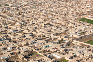 Afghanistan houses aerial view, adapted from image at state.gov