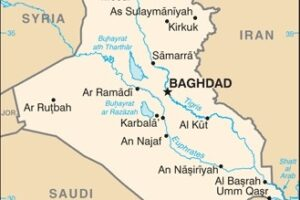Iraq Map, adapted from image at cia.gov