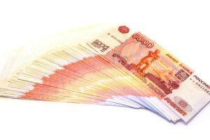 File photo of Russian paper currency, adapted from image at csce.house.gov